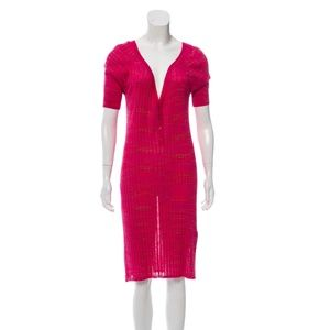 M MISSONI Short Sleeve Midi Dress w/ Tags 0